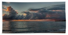 Hauula Sunrise Panorama Beach Towel