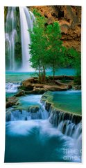 Havasu Canyon Beach Towel by Inge Johnsson