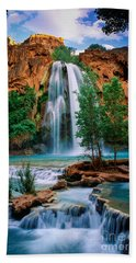 Havasu Cascades Beach Towel by Inge Johnsson
