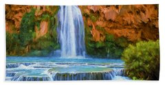 Havasu Falls Beach Towel by David Wagner