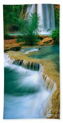 Havasu Travertine Beach Towel by Inge Johnsson