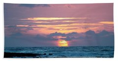 Hawaiian Ocean Sunrise Beach Towel by Lehua Pekelo-Stearns