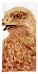 Hawk Beach Towel by Terry Frederick