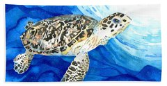 Hawksbill Sea Turtle 2 Beach Towel