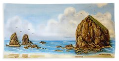 Haystack Relief Beach Towel