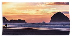 Haystack Rock Beach Walk Sunset Beach Towel