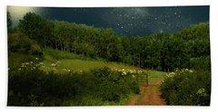 Hazy Moon Meadow Beach Towel by RC deWinter