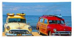 Cousins At Royal Palms  Beach Towel by Joe Schofield