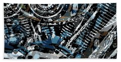 Abstract V-twin Beach Towel