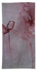 Beach Towel featuring the painting He Loves Me  by Jani Freimann