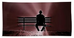 He Spoke Light Into The Darkness Beach Towel by Micki Findlay