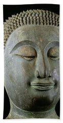 Head Of A Giant Buddha  Beach Towel
