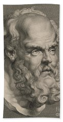 Head Of Socrates Beach Towel