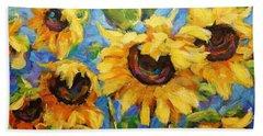 Healing Light Of Sunflowers Beach Towel