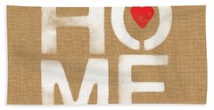 Heart And Home Beach Towel