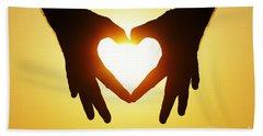 Heart Hands Beach Towel