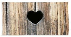 Beach Towel featuring the photograph Heart In Wood by Brooke T Ryan