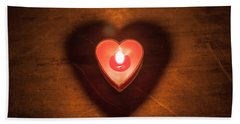 Beach Towel featuring the photograph Heart Light by Aaron Aldrich