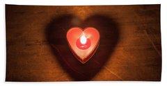 Heart Light Beach Sheet by Aaron Aldrich