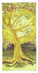 Heart Of Gold Tree By Jrr Beach Towel