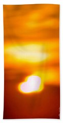 Heart Of The Day Beach Towel