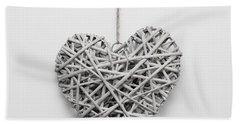 Heart Ornament Beach Towel