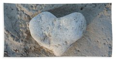 Heart Stone Photography Beach Towel by Rachel Stribbling