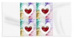 Heartful Beach Towel