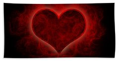 Heart's Afire Beach Towel by Beverly Stapleton