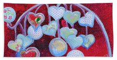 Hearts Don't Grow On Trees Beach Towel
