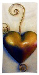 Heartswirls Beach Sheet by RC deWinter