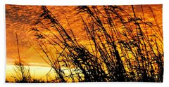 Sunset Heaven And Hell In Beaumont Texas Beach Sheet by Michael Hoard