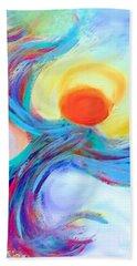 Heaven Sent Digital Art Painting Beach Towel