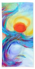 Heaven Sent Digital Art Painting Beach Towel by Robyn King