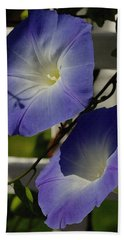 Heavenly Blue Morning Glory Beach Towel