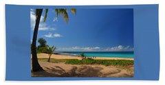 Heavenly Haena Beach Beach Towel by Marie Hicks