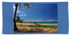 Heavenly Haena Beach Beach Sheet by Marie Hicks