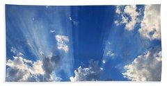 Heavenly Light Beach Sheet