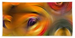 Heaven's Eyes - Abstract Art By Sharon Cummings Beach Towel