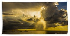Heavens Window Beach Towel by Marvin Spates
