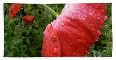 Heavy Head Poppy Beach Towel