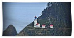 Beach Towel featuring the photograph Heceta Head Light House by Nick Kloepping