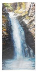 Hell Roaring Falls Beach Towel by Patti Gordon