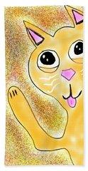 Hello Little Kitty Beach Towel