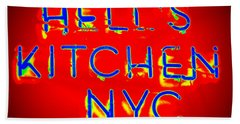 Hell's Kitchen Nyc Beach Towel by Ed Weidman