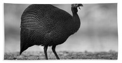 Helmeted Guineafowl Beach Towel