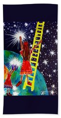 Helping Hands Beach Towel by Jackie Carpenter