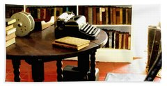 Hemingway's Studio Ernest Hemingway Key West Beach Sheet by Iconic Images Art Gallery David Pucciarelli