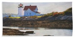 Hendricks Head Lighthouse - Maine Beach Towel