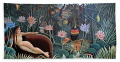 Henri Rousseau The Dream 1910 Beach Towel by Movie Poster Prints